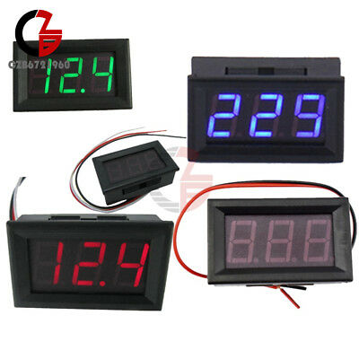 "0.56"" 2/3Wires AC 70V-500V DC 5V-30V/120V Digital Red/Green/Blue LED Voltmeter"