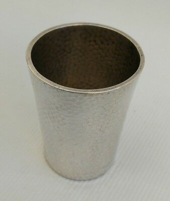 Vintage 19thC Chinese Export Solid Silver Hammered Beaten Tot Shot Cup Beaker