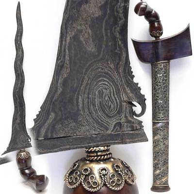 KERIS BUGIS Kris Blade KUL BUNTET pusaka sword INDONESIA tribal art Malay dagger