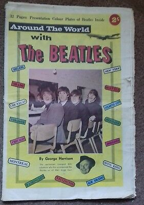THE BEATLES pop magazine Around the World with the Beatles 1964