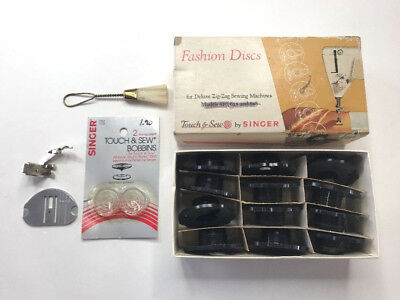 Vintage Singer Touch & Sew Fashion Discs Deluxe Zig-Zag Models 620, 625, 628