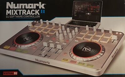 Numark Mixtrack 2 all-in-one DJ Controller Silver Only Used a Couple of Times