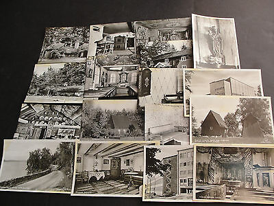 Vintage 1950s-Views of Sweden, Black-White Real Photos, SET OF (17) Postcards.