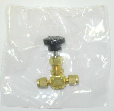 Swagelok B ORS2 3000 psi Brass Needle Valve - NEW SEALED IN PLASTIC