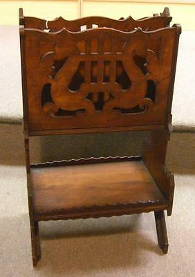 Antique Folky Music Related Hand Done Country Stand NICE!