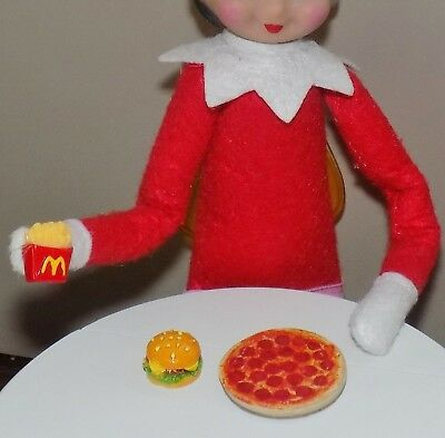 Christmas Food Pizza French Fries Hamburger Lot Props Elf On The Shelf Santa