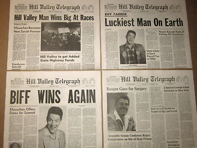 Back to the Future 2 - Hill Valley Telegraph - Biff Prop Newspaper Replicas