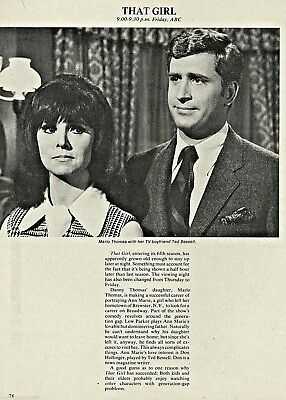 1971 Marlo Thomas~That Girl Tv fall preview Article~Ted Bessell promo Ad