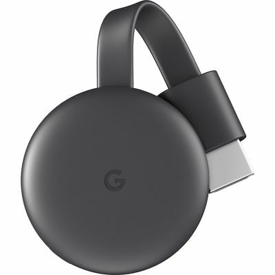 Google Chromecast (3rd Generation) Wireless Streaming Media Player, Charcoal
