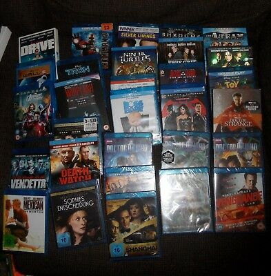 30 blu ray job lot marvel dc doctor who and more some sealed