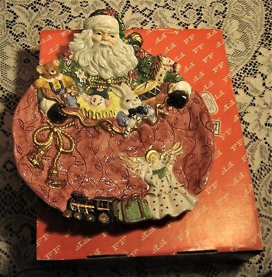 Vintage Fitz & Floyd Canape Cookie Plate Dish 1995 Father Christmas Series