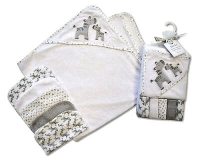 Baby Hooded Towel with 5 Wash Cloth Set – Baby Gift item