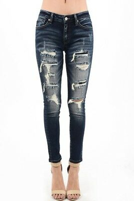 b454cc3a37c25 KAN CAN USA Distressed Ankle Skinny Jeans KC5050D KanCan - $50.88 ...