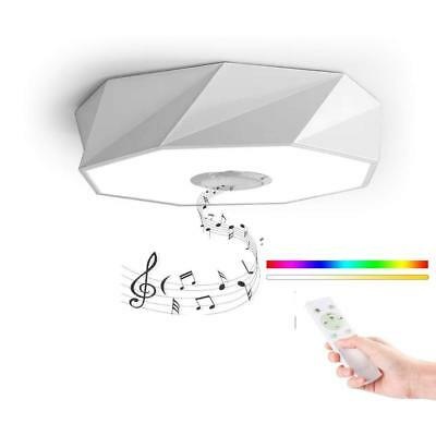 HOREVO LED Lámpara de Techo Mando a distancia Altavoz Bluetooth Blanco 24W