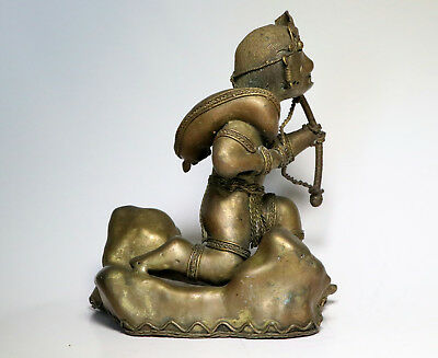Original Rare Colombian Gold Copper Tairona Tumbaga Large Hunter With Prey