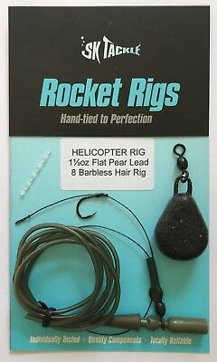 ROCKET HELICOPTER LEAD/RIG COMBO - hook sizes 4, 6, 8, 10, 12 & 1oz to 3oz leads
