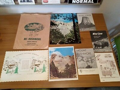 Vintage Mount Rushmore National Memorial Gift Shop Items Guides Devil's Tower