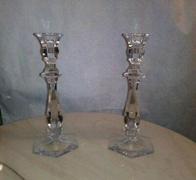 Two Vintage Fine Crystal Candle Holders