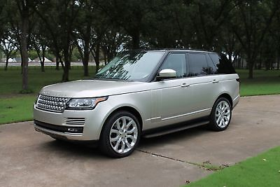 2014 Land Rover Range Rover V8 Supercharged V8 Supercharged CPO Warranty Perfect Carfax Non Smoker Range Rover CPO Warranty Remaining MSRP New $111830