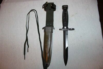 BOC M7 US Military Vietnam Fighting Knife USMC Army with M8A1 Scabbard  SALE B9