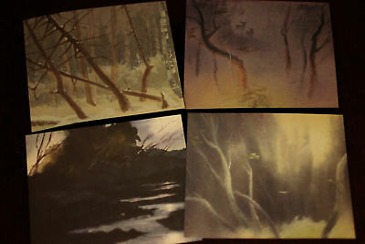 TYRUS WONG Walt Disney Bambi LOT of FOUR Concept Illustrations 1938 - 1941 2005