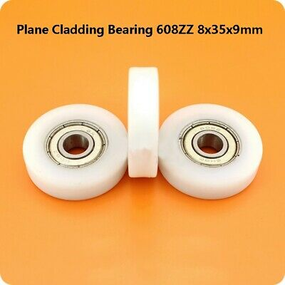 Nylon  Pulley Wheels Roller  Ball Bearing 608ZZ 8x35x9mm Bathroom Guide Wheel