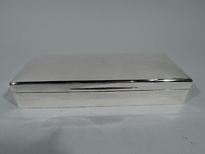 George V Box - Antique Modern - English Sterling Silver - Mappin & Webb 1927