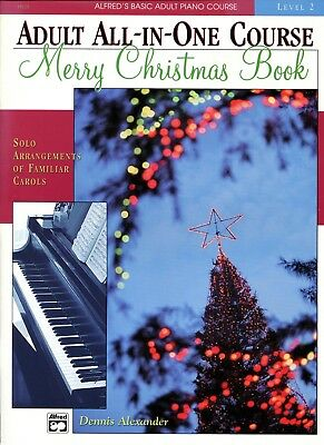 CHRISTMAS Sheet Music MERRY CHRISTMAS BOOK Alfred Adult Piano Level 2 NEW!