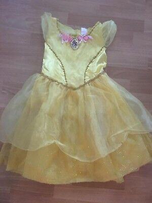 Disney Princess Belle Costume Deluxe Girls Child Disney Bell Gold Dress