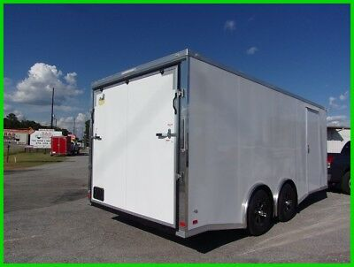 8.5x20 flat nose spread axle 20 toy hauler 5200 axles car enclosed Cargo trailer