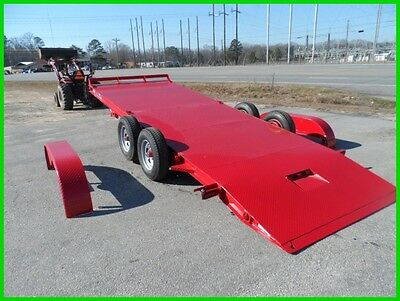 NEW 82x20 20' electric hydraulic tilt CAR hauler Hawke power up n down 10k GVWR