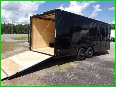 8.5x20 2ft v nose Black out Trim enclosed cargo motorcycle car hauler trailer 22