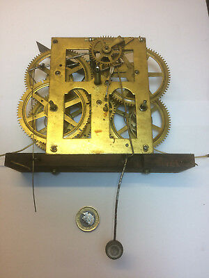 Antique JEROME & Co American Wall Clock Movement 30 hr, Repairs Spares