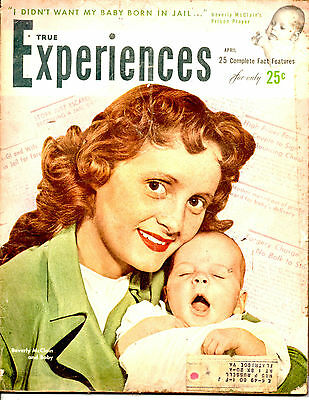 APRIL 1949 TRUE EXPERIENCES MAGAZINE-BEVERLY McCLAIN+BABY COVER-VINTAGE ADS-RARE