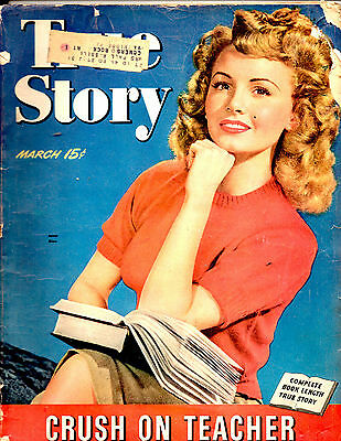 March 1944 True Story Magazine-Janet Blair Cover-Romance-Vintage Ads-Rare