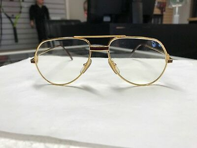 a9b16dd3778f VINTAGE CARTIER VENDOME Laque Gold Metal Optical Frames Eye Glasses ...