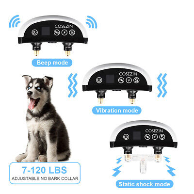 Dog Bark Collar With VIBRATION No Harm Static Shock-RECHARGEABLE Bark Control