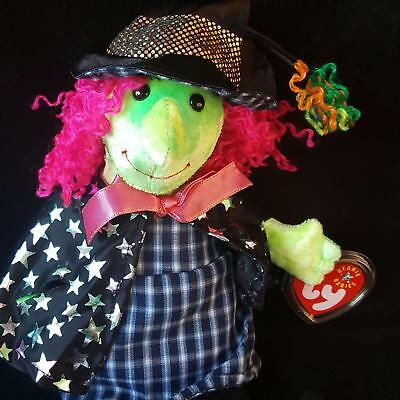 Ty Beanie Baby Halloween Witch 4378 Scary Plush 2001 PE Pellets Trick Treat Mint