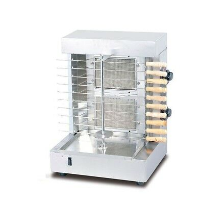 Shawarma and Doner Kebab Machine Grill Gyros Automatic Vertical 2 burners