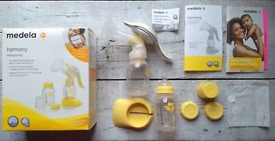 MEDELA Harmony Manual Breastpump Used, Complete With Box and Manual