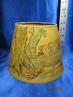 Vintage Disney Snow White Seven Dwarfs Lamp Shade