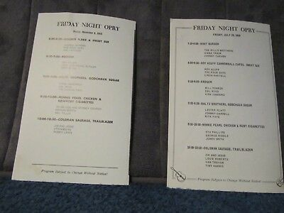 Lot of 17 Grand Ole Opry Programs (1968 - 1995)
