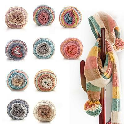 Rainbow Cotton Yarn Sweater Line Clothes Blanket Sewing Accessories DIY Handmade