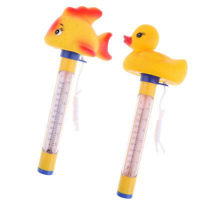 2x Swimming Pool Floating Thermometer 50℃ 120 ℉ Temperature Duck&Goldfish