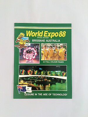 WORLD EXPO 88 (Official Souv.) Glossy Paperback Leisure in the Age of Technology