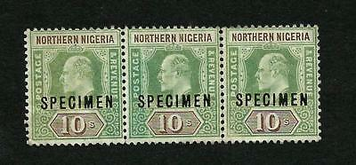 1912 NORTHERN NIGERIA SG #18s STRIP OF 3 Mint
