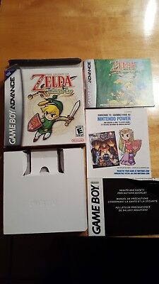 Legend of Zelda: The Minish Cap gba game boy advance, box and inserts only