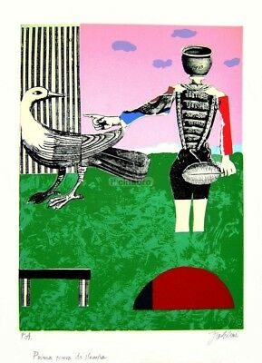 Franco GENTILINI _ Collage e Serigrafia Originale _ 1960