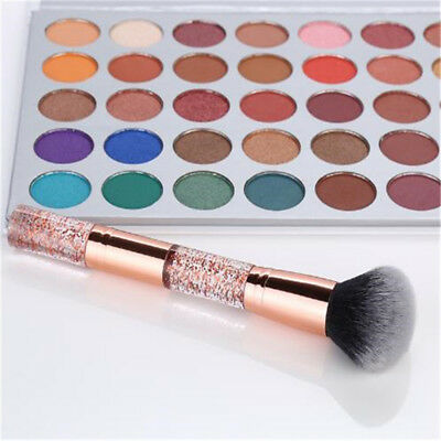 Large Soft Silver Powder Cosmetic Brush Blush Foundation Round Make Up Tool BS
