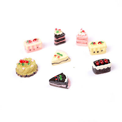 8PCS 1/12 Cute Dollhouse Miniature Kitchen Food Cakes Kids Set Doll House A Ft